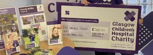 Glasgow Children's Hospital Charity Cheque Photograph